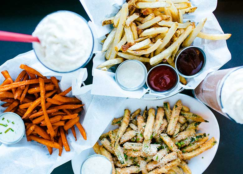 Fries and sauces
