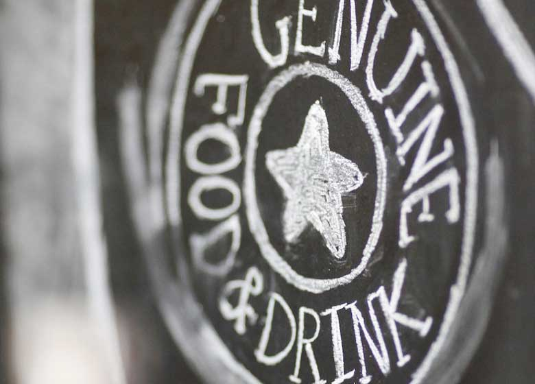 CDO Genuine Food & Drink Sign